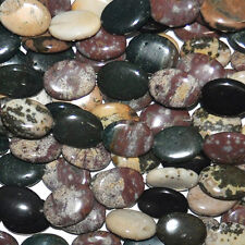 15X20MM OCEAN JASPER PUFF OVAL NATURAL GEMSTONE BEADS  15.5 IN STRAND