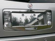 FITS CADILLAC SRX 2004-2009 STAINLESS CHROME LICENSE PLATE SURROUND