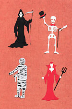QuicKutz Silhouette  Halloween Party Guests Die Cut Embellishments, Sizzix
