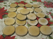 """50 3"""" BIRCH WOOD SLICES WOODEN CRAFTS WEDDING ORNAMENTS COASTERS DRIED bark 3"""""""