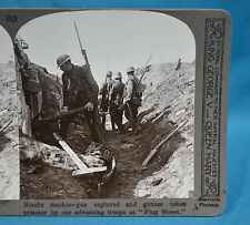 WW1 Stereoview German Machine Gun Captured Gunner Prisoner At Plug Street Ypres