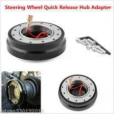 Short Quick Release Hub Thin For Car Steering Wheel Adapter Black Snap Off Boss