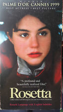 Rosetta (VHS) 1999 Cannes Best Picture; French with English subtitles
