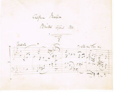 1861 ALFRED MELLON Autograph Musical Quote Signed - COMPOSER & VIOLINIST