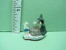Dollhouse Miniature Water Globe wi Witch & Gargoyle Falcon #A3928- 1/12th Scale