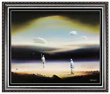 ROBERT WATSON Original OIL PAINTING on BOARD Signed Seascape Surreal Artwork SBO