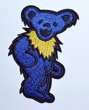 30 pcs/lot Blue Grateful Dead DANCING BEAR Biker Punk Embroidery Iron on Patch