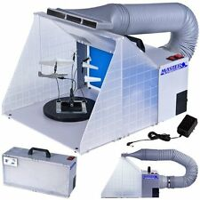 Airbrush Spray Booth Portable Hobby Paint Kit Model Filter Craft Exhaust Set New