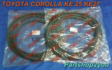 Toyota Corolla KE25 TE25 TE27 Coupe weatherstrip Door Rubber seal  2 pcs L&R