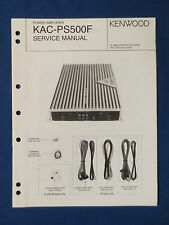 KENWOOD KAC-PS500F AMPLIFIER SERVICE MANUAL ORIGINAL GOOD CONDITION