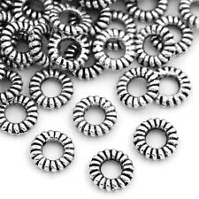 500PCs Silver Closed Jump Rings Stripe Jewelry Findings 5mm