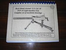 Browning 1919 A4 A6 Machine Gun Drawings set, NEW, includes 11 x 17 drawings!