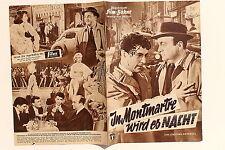 IFB Nr.4634 Filmbühne Programm In Montmartre wird es Nacht 50er Bernard Blier