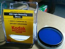 Kodak No 80A Light Balancing 58mm Filter Lens CAT 8643470