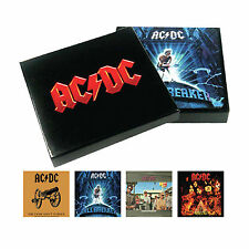 AC/DC Cork Backed Drinks Coaster Boxed Set of 4 OFFICIAL Album Cover Coasters
