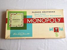 VINTAGE 1961 MONOPOLY GAME-CANADIAN VERSION