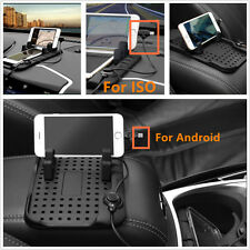 Car Holder Dashboard Stand USB Mount Charger Cradle Non-Slip Pad For ISO Android