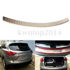 Rear Outer Bumper Guard Sill Plate Protector Trim Steel 2012-2015 For Mazda CX-5