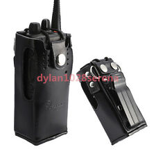Hard Leather Carrying Case For Motorola 2-Way Radio GP328 GP340 GP380 HT1250