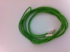 Lot of 3 One Pandora Green Color Cord Silver tips, 1 instructional book, 1 box