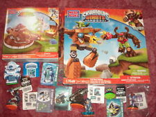 2 skylanders giants Mega Bloks boxes+empire of ice,Lightcore Chill, Mini Jini