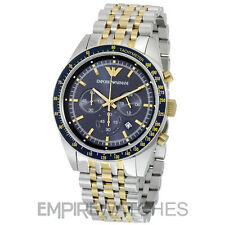 *NEW* MENS EMPORIO ARMANI CHRONOGRAPH TAZIO BLUE WATCH - AR6088 - RRP £359.00