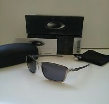 NIB TINCAN CARBON FIBER Satin Chrome / Grey Iridium Sunglasses tinfoil blade xx