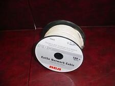 NEW RCA Audiovox 1x100Ft Cat5E Network LAN Ethernet Modem Molded Patch Off-White