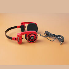 Koss Porta Pro Headband Headphones - Red L-Shape Plug Nylon Wire