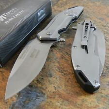 MTECH Ballistic MIDNIGHT OPS SKULL Spring Assisted Opening Pocket Knife NEW!!