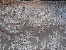 Leggero Ivory morbida Floreale In Pizzo Tessuto Sposa Abito da sposa DIY 160cm