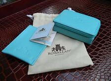 LADIES CARD CASE & TRAVEL JEWELRY CASE SET, LEATHER, GENUINE R0WALLAN