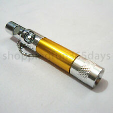 Whistle Magnetic Compass Mini LED Torch Keychain with Flashlight White Light