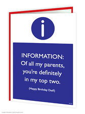 Brainbox Candy Dad Father Daddy Birthday Greetings Card funny novelty humour