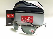 RAY-BAN WARRIOR RB3342 004/58 GUNMETAL/GREEN POLARIZED LENSES 60mm SUNGLASSES