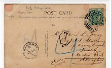SCOT - DUNBARTONSHIRE: Underpaid picture postcard sent to Shanghai (C23653)