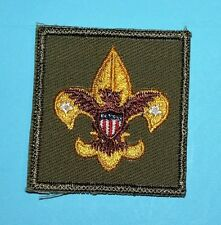 TENDERFOOT RANK BADGE   - COARSE TWILL  -  BOY SCOUTS  -  5718