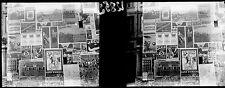 Murs PARIS c. 1910-20 - Stéréo Verre Affiches Multiples - 12852