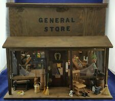 VINTAGE ANTIQUE DOLLHOUSE MINIATURE  GENERAL STORE DIORAMA 1 OFF