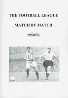 The Football League Match By Match 1950/51 Season Complete Statistics book