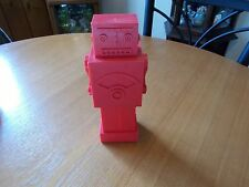 KIKKERLAND Red Robot Mechanical Man Plastic Meauring Cup Set 4 Pieces Undamaged