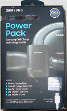 Samsung Qi Fast Charge Bundle Stand, Vehicle Charger, Power Pack, Cables OBN