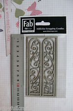FILIGREE ARCHES 2 Piece 26x113mm - Single DieCut from Chipboard - Frame 125x63mm