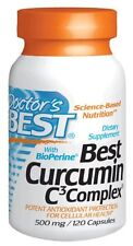 Doctors Best Curcumin C3 Complex with BioPerine (500 Mg), Capsules, 120-Count