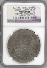 Netherlands Overyssel Ducaton (Silver Rider) 1734 NGC-AU Details silver coin