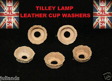 TILLEY LAMP WASHERS X 5 TILLEY PUMP WASHERS CUP WASHER PARAFFIN LAMP PARTS