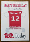 "SWINDON FAN Unofficial PERSONALISED Football Birthday Card (""THE ROBINS"")"