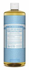 Dr. Bronners Magic Soaps Pure-Castile Soap, 18-in-1 Hemp Unscented Baby Mild,