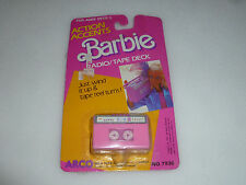 NEW ON CARD BARBIE RADIO/TAPE DECK ACTION ACCENTS MATTEL 1987 7936 WIND UP TOY