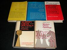 Lot DD of 5 Chess Books, Ancient Opening Reference Manuals